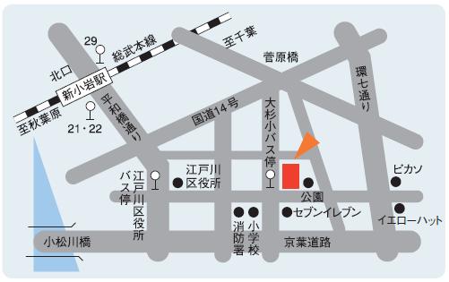 江戸川校地図